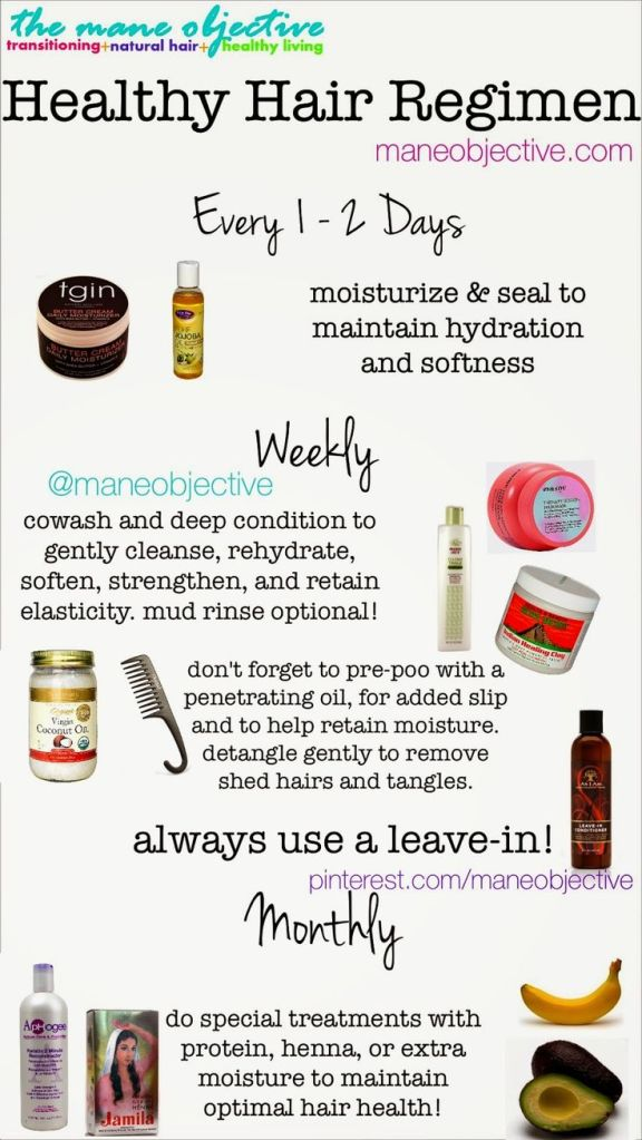 Healthy Hair Regimen Infographic