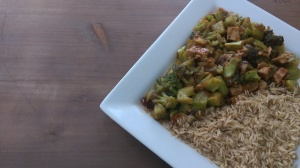 "6 Minute Vegan ""Chicken"" and Broccoli"