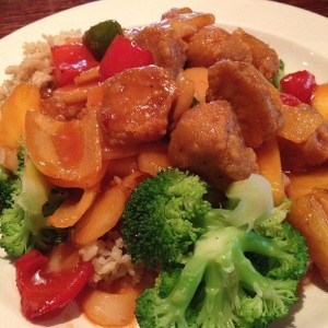 cafe sunflower sweet and sour soy chicken