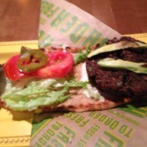 F2O black bean burger