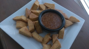 Baked Tofu Sesame Orange dipping Sauce