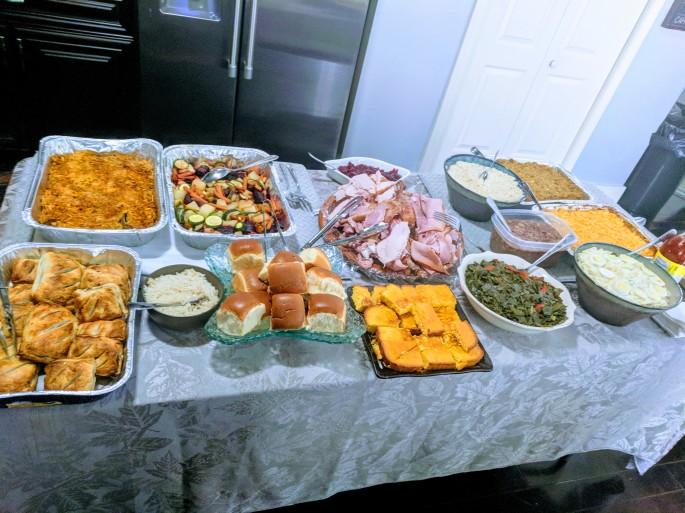 Vegan dishes at Thanksgiving